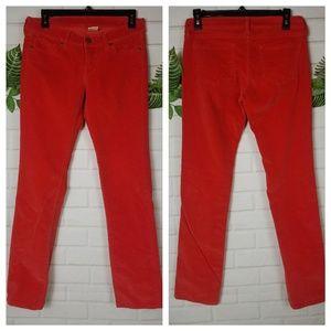 UNIQLO womens orange corduroy Jeans size 4